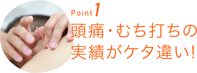 Point1頭痛・むち打ちの実績がケタ違い!